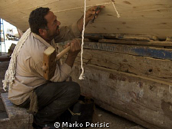 The dry dock at  Hurghada and some of the characters that... by Marko Perisic