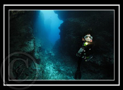 My Buddy Michelle inside the Crevices by Eric Javier