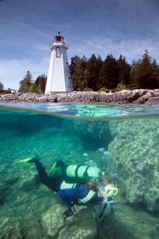"""The Lighthouse"" - Tobermory, Ontario, Canada.  A very po... by Ian Brooks"