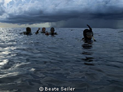 After a spectacular dive at Wakatobi. Look at the weather... by Beate Seiler