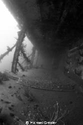 Portside alleyway of HMCS Saguenay, sunk Lunenburg Bay (N... by Michael Grebler