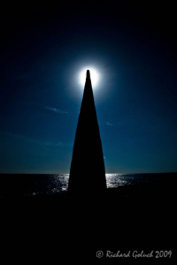 Obelisk in the afternoon sun-Bonaire 2009 by Richard Goluch