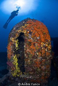 The WW1 Lundy Wreck at Kabatepe in Northern Aegean Sea. N... by Andre Yanco
