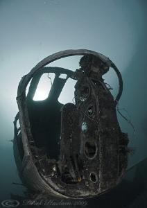 Helecoptor cockpit. Capernwray. D200, 10.5mm. by Derek Haslam