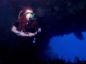 Lionfish. (Aka Kasia, trainee divemaster @ Free Flow Divi... by Doug Anderson