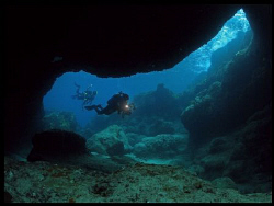 Cave diving at Culebra, Puerto Rico by Juan Torres