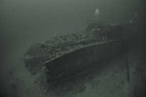 "HMS ""Southwold"", a Hunt Class Destroyer, hit a mine and s... by Aleksandr Marinicev"