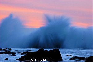 Sunset over False bay after a Winter storm by Tony Makin