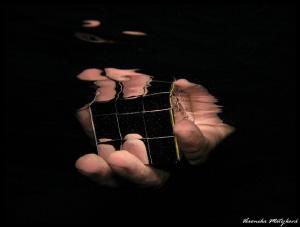 Cube in hand by Veronika Matějková