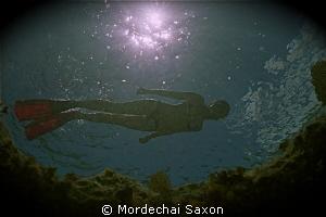 Snorkelers make great models. by Mordechai Saxon