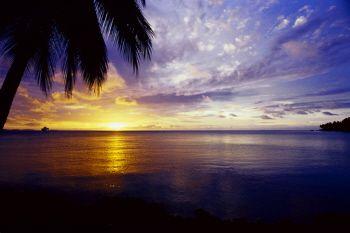 Sunset at Truk Lagoon by Eric Bancroft