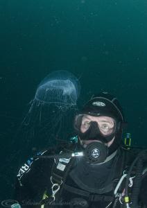 Mark with Medusa. Inishturk. D3, 16mm, 2xtc. by Derek Haslam