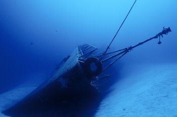 The Russian Frigate 356 - sunk as an artificial reef in T... by Eric Bancroft
