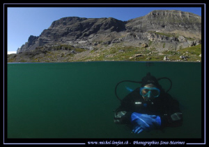 High Altitude Mountain lake diving... Que du bonheur... :... by Michel Lonfat