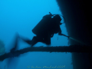trying to get a moody shot inside a wreck - SS Coolidge V... by Andrew Macleod