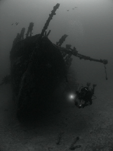 The Fearless Wreck and my friend Eduardo. by Juan Torres