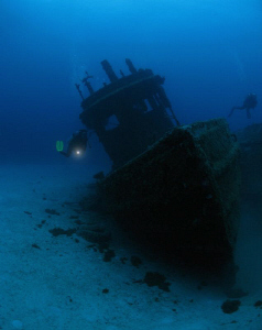 The Marie L. and Patt wrecks in BVI. by Juan Torres