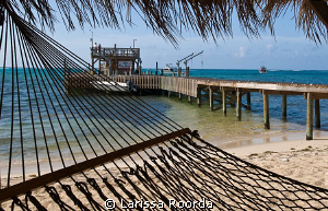 BooHoo! Last morning at Little Cayman.  The dock.  Bummer... by Larissa Roorda