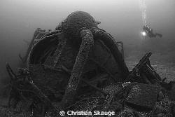 Mammoth. The wreck of NK-02 Dragoner aka KNM Kjell outsid... by Christian Skauge