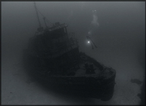 The wreck of The Beata and my friend Abimael. by Juan Torres