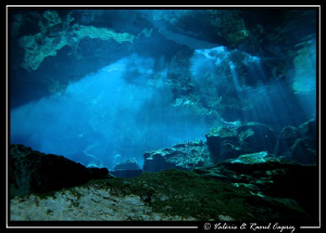 Mysterious cave in a cenote (Yucatan). Picture taken with... by Raoul Caprez