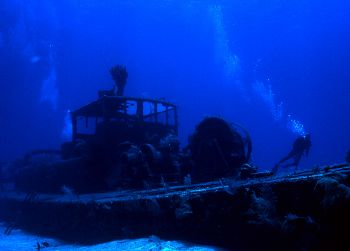 The Wreck of the Doc Poulson in the Cayman Islands.  The ... by Robyn Lynn Churchill