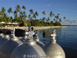 Ready for the next dive ? Always prepared at Wakatobi ! by Beate Seiler