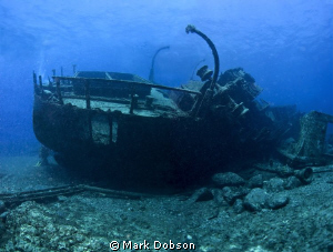 This is a wide angle shot of the Condesita a wreck off Te... by Mark Dobson