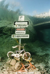 Not a wreck, but this signpost was made underwater in Mor... by Michael Grebler