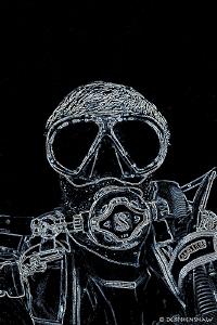 """Negative Space"" Self Portrait by Debi Henshaw"
