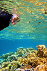 "First time snorkling ""my wife"" on the Great Barrier Reef.... by Glenn Storey"