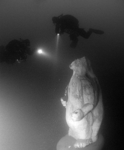 Icebear in the lake Attersee in Austria by Andy Kutsch