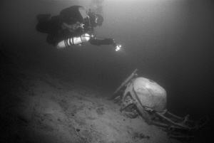 small wreck at lake attersee by Andy Kutsch