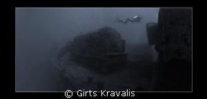 Steam locomotive on sunked Thistlegorm by Girts Kravalis