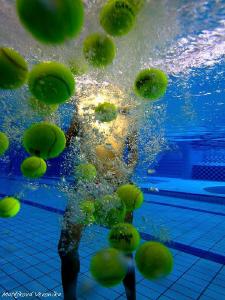 Tennis balls by Veronika Matějková