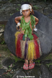Little Girl in Yap by Tony Anderson