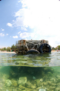 Diving from Beach Bosana in Biograd na moru / Croatia. by Andy Kutsch