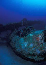 Place: Papua Biak. WWII Sea Plane. Nikonos V+15mm+DS125. by Eric Leong
