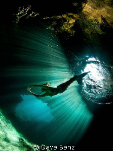Just diving together with a mermaid...nothing else ;-) by Dave Benz