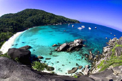 Aerial view of Donald duck Bay, Similan Islands by Soren Egeberg