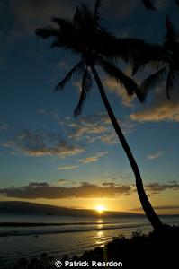 Sunset over Lanai. by Patrick Reardon