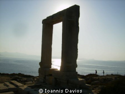 The Temple of Apollo at Naxos island Greece by Ioannis Davios