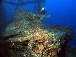 A Battle Tank on the deck of the San Francisco Maru by Kurt Ulrich