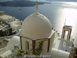 Fira Santorini Greece by Ioannis Davios