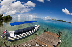 At the jetty before heading out for a dive by Dorian Borcherds