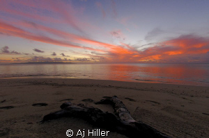 Sunset looking toward Ovalau Island in Fiji; shot with Ni... by Aj Hiller