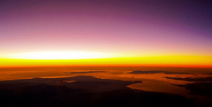 """""""Red Sea Red""""  Airview at sunset. Located around Hurgha... by Henry Jager"""