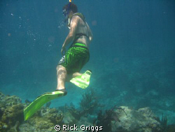 My son Matthew when He saw a shark for the first time.  B... by Rick Griggs