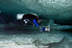 Halocline / I took this picture while cave diving in the ... by Veronica Von Allworden