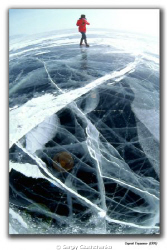 Clear Ice of the lake Bajkal by Sergiy Glushchenko